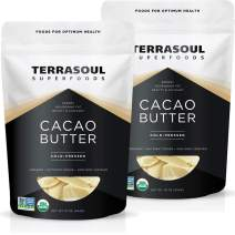 Terrasoul Superfoods Organic Cacao Butter, 2 Lbs - Raw | Keto | Vegan | Unrefined