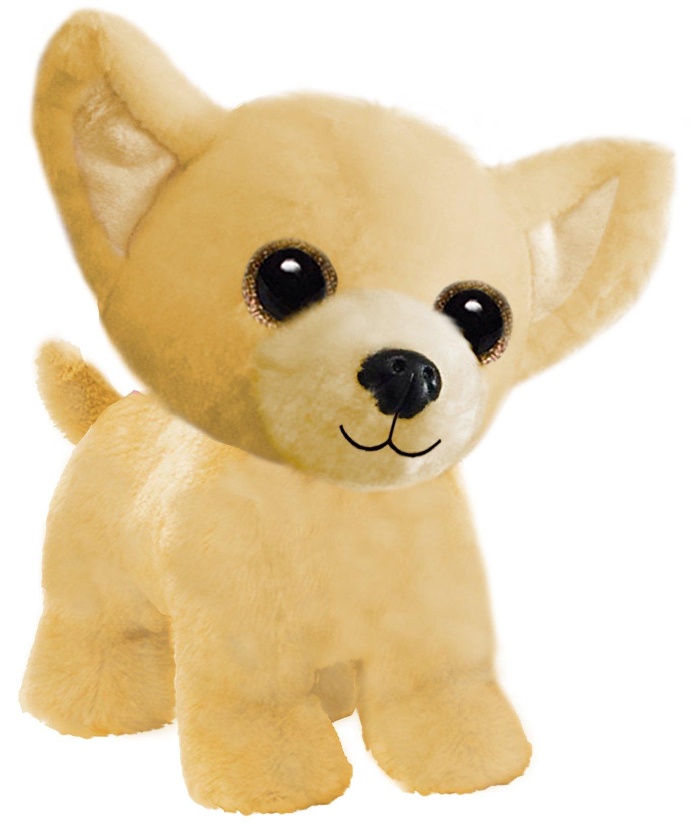 "First & Main 7"" Tan Wuffles Chihuahua Puppy Dog Basic Plush Toys"