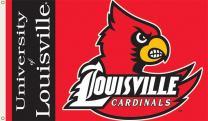 BSI NCAA College Louisville Cardinals 3 X 5 Foot Flag with Grommets