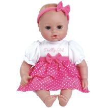 "Adora Playtime Baby Pretty Girl Vinyl 13"" Girl Weighted Washable Cuddly Snuggle Soft Toy Play Doll Gift Set with Open/Close Eyes for Children 1+ Includes Bottle"