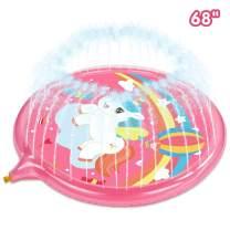 "Aywewii Splash Pad, 68"" Sprinkle and Splash Play mat for Children Toddlers,Boys, Girls and Kids, – Children's Sprinkler Pool"