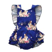 Easter Day Baby Girl Rabbit Romper Baby Girl Floral Animal Rabbit Romper Jumpsuit Summer Pink Outfit