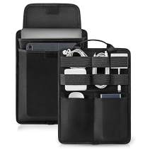 tomtoc Electronic Accessory Organizer Panel for Cable Hard Drive USB Hub Power Bank, Tech Gear Management Sleeve for 13-inch New MacBook Air & Pro, Surface Pro X/7/6/5/4, 9.7-11 Inch iPad