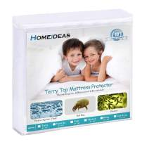 """HOMEIDEAS Premium Waterproof Mattress Protector, Breathable & Quiet Mattress Cover, Fitted 14""""-18"""" Deep, Soft Cotton Terry Surface, Safe Sleep for Adults & Kids, Oeko-TEX, Vinyl Free (Full)"""