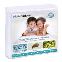 "HOMEIDEAS Premium Waterproof Mattress Protector, Comfortable & Quiet, Fitted 14""-18"" Deep Pocket, Soft Cotton Terry Surface, Safe Sleep for Adults, Kids, Oeko-TEX, Vinyl Free (Queen)"