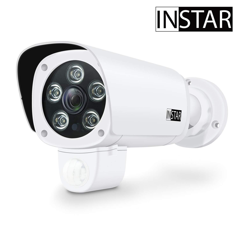 INSTAR IN-9008 Full HD White - IP Camera - Security Camera - Home Security System - Camera Outdoor - CCTV - CCTV Camera - LAN - WiFi - Night Vision - Alarm - PIR Sensor - RTSP - ONVIF
