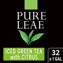 Pure Leaf Green with Citrus Unsweetened Iced Tea Bags Made with Tea Leaves Sourced from Rainforest Alliance Certified Farms, 1 gallon, Pack of 32