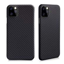 SHIWELY Aramid Fiber iPhone 11 Pro Case, Ultra Thin and Light Millitary Grade Material Super Durable Matte Cover for iPhone 11 Pro (Twill Black)