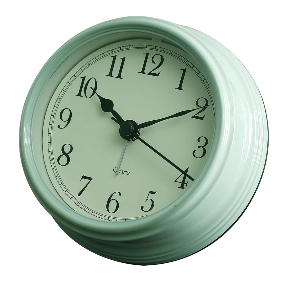 3 inches Silent Alarm Clock Vintage Classic, Battery Operated Travel Clock