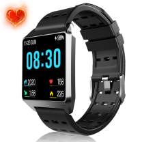 Smart Watch, Fitness Tracker Heart Rate Monitor, Waterproof Fitness Watch with Pedometer Sleep Monitor Activity Tracker for Workouts Watch Compatible Android iOS Phones for Men Women