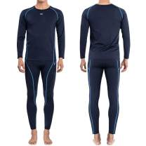FITEXTREME MAXHEAT Mens Thermal Underwear Long Johns Set with Fleece Lined