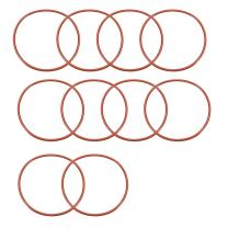 uxcell Silicone O-Ring, 70mm OD, 65.2mm ID, 2.4mm Width, VMQ Seal Rings Gasket, Red, Pack of 10