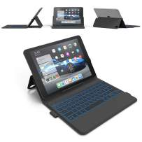 iPad Pro 11 Keyboard Case (2018) - Thin & Light - Backlit 7 Color - Infinite Hinge - Auto Sleep/Wake - iPad Pro 11 3rd Generation Case with Keyboard - A1980 - A2013- A1934 - A1979 (Black)