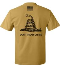 Don't Tread On Me T-Shirt Gold Nugget