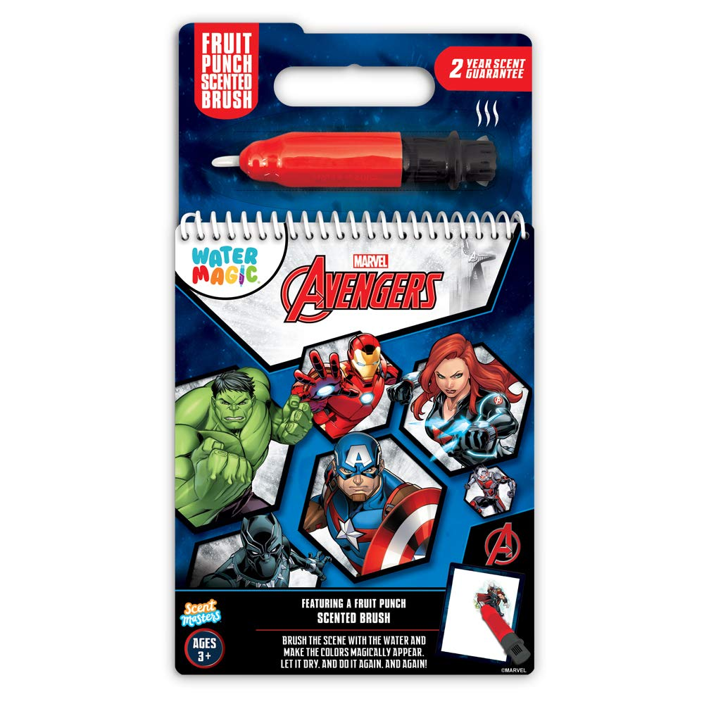 Scentco Water Magic - Scented Reusable Water Reveal Activity Books (Marvel Avengers)