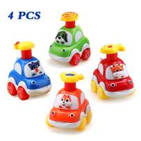 Amy & Benton Baby Toy Cars for 1 Year Old Toddler Birthday Gift Toys Cartoon Wind up Cars for 2 Year Old Boys