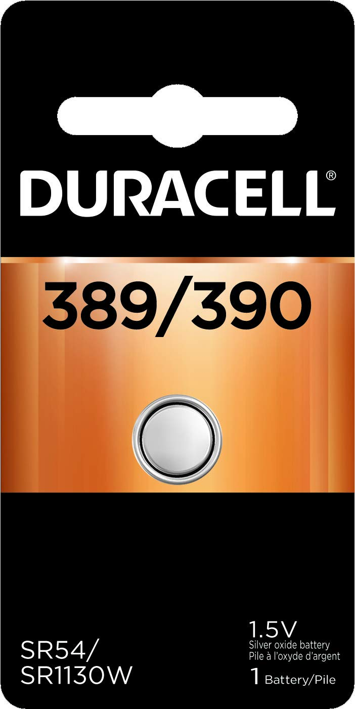Duracell – 389/390 1.5V Silver Oxide Button Battery – long-lasting battery – 1 count