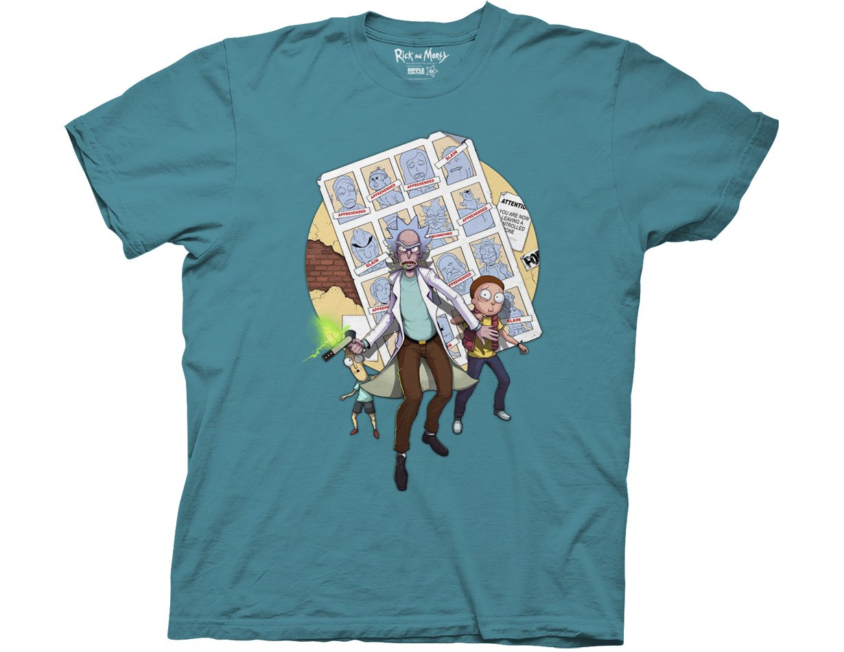 Ripple Junction Rick and Morty Ricks of Futures Past Teratophile Adult T-Shirt