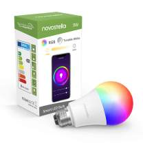 Novostella LED Lights Bulbs RGB Color Changing 2700K to 6500K Dimmable 9W Equivalent to 75 Watt Wifi Smart Bulb for Home Table Lamps Works with Alexa and Google Home (Soft White to Daylight, A19 E26)