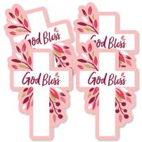 Pink Elegant Cross - Decorations DIY Girl Religious Party Essentials - Set of 20