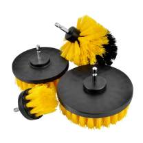 Haneye Drill Brush Attachment, 4 Packs Power Scrubber Brush Set, Cleaning Kit For Grout, Floor, Tub, Shower, Tile, Bathroom and Kitchen Surface