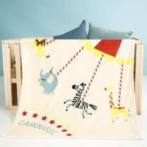 i-baby Large Baby Blanket Cozy Toddler Blanket Soft Nursery Crib Blanket Warm Kids Blanket (Happy Circus, 39 x 47 Inch)