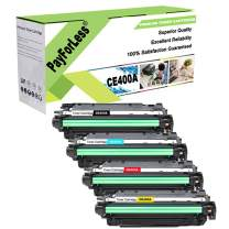PayForLess Compatible for HP 507A CE400A CE401A CE402A CE403A 504A CE250A Toner Cartridge for HP Laserjet 500 Color M551 M551DN MFP M575DN CP3525n CP3525 CP3525dn