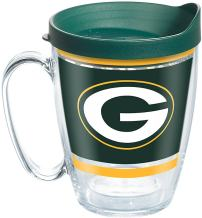 Tervis NFL Green Bay Packers Legend Tumbler with Wrap and Hunter Green Lid 16oz Mug, Clear
