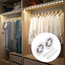 Amagle LED Dual Mode Motion Night Light, Flexible LED Strip with Motion Sensor Closet Light for Bedroom Cabinet 4000K (Nature White,2 Pack)
