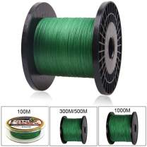 OROOTL 10lb-133lb Braided Fishing Line, Super Strong Abrasion Resistant PE Line Fishing Green/Gray/Colored High Performance 4 Strands Braid Lines for Saltwater Freshwater Fishing