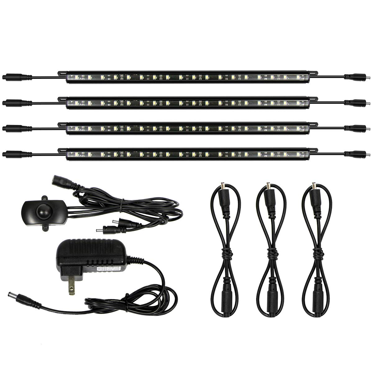 Mingdak LED Safe Lighting Kit - Linkable Motion Sensor Activated LED Light Bars for Under Cabinet, Gun Safe, Locker, Closet, Under Counter, Shelf, Showcase,5000K Daylight,4-Pack …