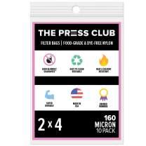 "160 Micron   Premium Nylon Rosin Tea Filter Screen Press Bags   2"" x 4""   10 Pack   Zero Blowout Guarantee   All Micron & Sizes Available"