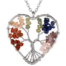FaithHeart Tree of Life Serenity Prayer Necklace, Stainless Steel Nature Spiritual Faith Gifts for Men Women Lucky Charms Abalone Shell Family Tree Jewelry, Customize Available (Send Gift Box)
