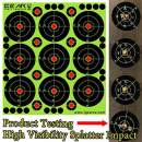 "GearOZ Splatter Shooting Target Stickers, 3"" Adhesive Reactive High Visibility Impact Paper for Airsoft Pellet Gun Pistol Rifle Shotgun 9x10/25pcs"