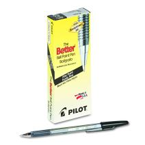PILOT The Better Ball Point Pen Refillable Ball Point Stick Pens, Fine Point, Black Ink, 12 Count (35011)