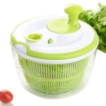 Large Salad Spinner and Keeper - 5L Lettuce Spinner Vegetable Washer Dryer with Large Salad Bowl and Plastic Colander, Fruit Veggie Wash & Salad Making, BPA Free