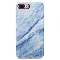 GOLINK iPhone 7 Plus Case/iPhone 8 Plus Marble Case, Matte Marble Series Slim-Fit Anti-Scratch Shock Proof Anti-Finger Print Flexible TPU Gel Case for iPhone 7/8 Plus - Blue Line Marble