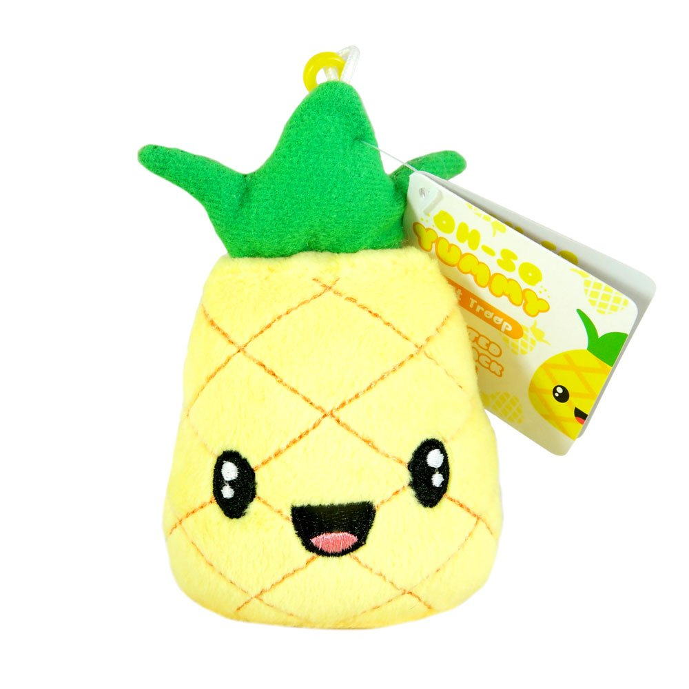Scentco Fruit Troop Backpack Buddies - Scented Plush Toy Clips - Pineapple