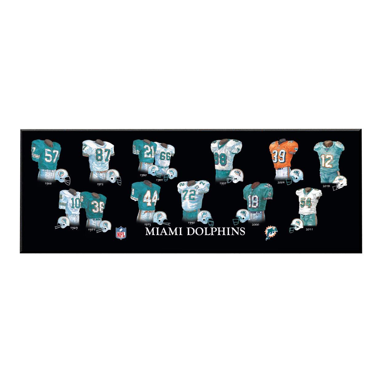 Winning Streak NFL Miami Dolphins Unisex Miami Dolphins Legacy Uniform PlaqueMiami Dolphins Legacy Uniform Plaque, Black, Plaque
