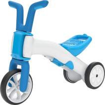 Chillafish Bunzi 2-in-1 Toddler Balance Bike and Tricycle, Ages 1 to 3 Years Old, Adjustable Lightweight First Gradual Balance Bike with Silent Non-Marking Wheels, Blue