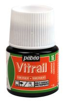Pebeo Vitrail, Stained Glass Effect Paint, 45 ml Bottle - Orange