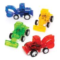 Baker Ross Pull Back Racing Diggers (Pack of 6) Mini Assorted Colour Vehicles Perfect for Kids Goodie Bags, Halloween Party Favours, Pinata Filler or Birthday Presents