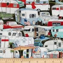 Elizabeth's Studio Vintage Packed Trailer Multi Fabric by The Yard, Multicolor