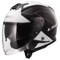 LS2 Helmets Open Face Verso Helmet (Rave Black/White - XX-Large)
