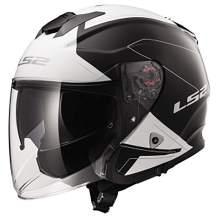 LS2 Helmets Open Face Verso Helmet (Rave Black/White - XXX-Large)