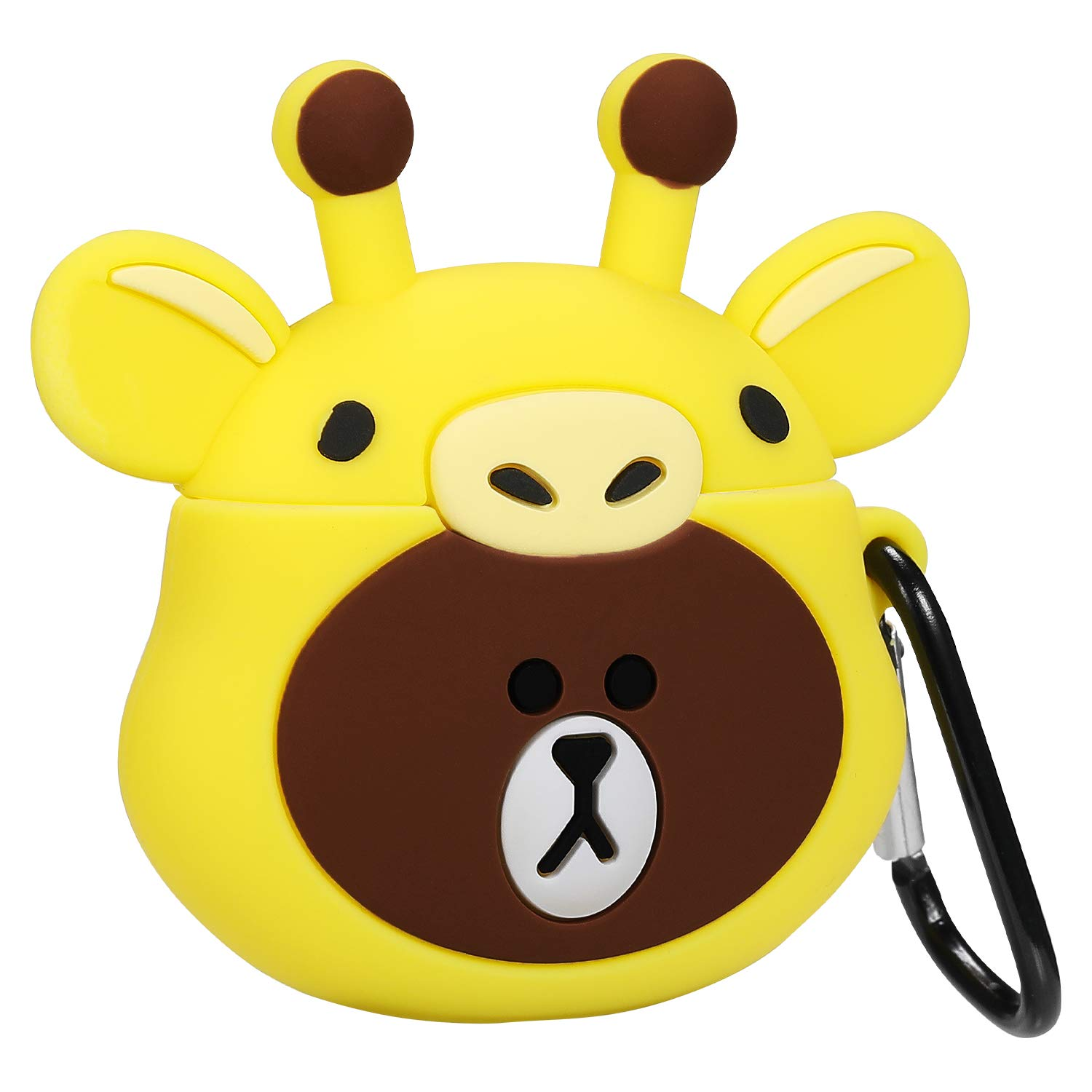 Gift-Hero Compatible with Airpods 1&2 Soft Silicone Cute Case,Cartoon 3D Fun Animal Funny Cool Kawaii Designer Kits Character Design Skin Fashion Cover for Girls Boys Kids Teens Air pods(Giraffe Bear)