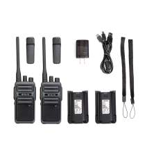Retevis RB17 Walkie Talkie Long Range Rechargeable 4400mAh Battery FRS 16 CH Emergency VOX Hands Free 2 Way Radio Adults (2 Pack)