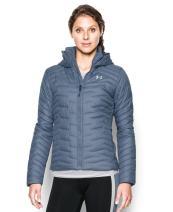 Under Armour Women's UA ColdGear Hooded Jacket Aurora Purple/Aqua Falls Large