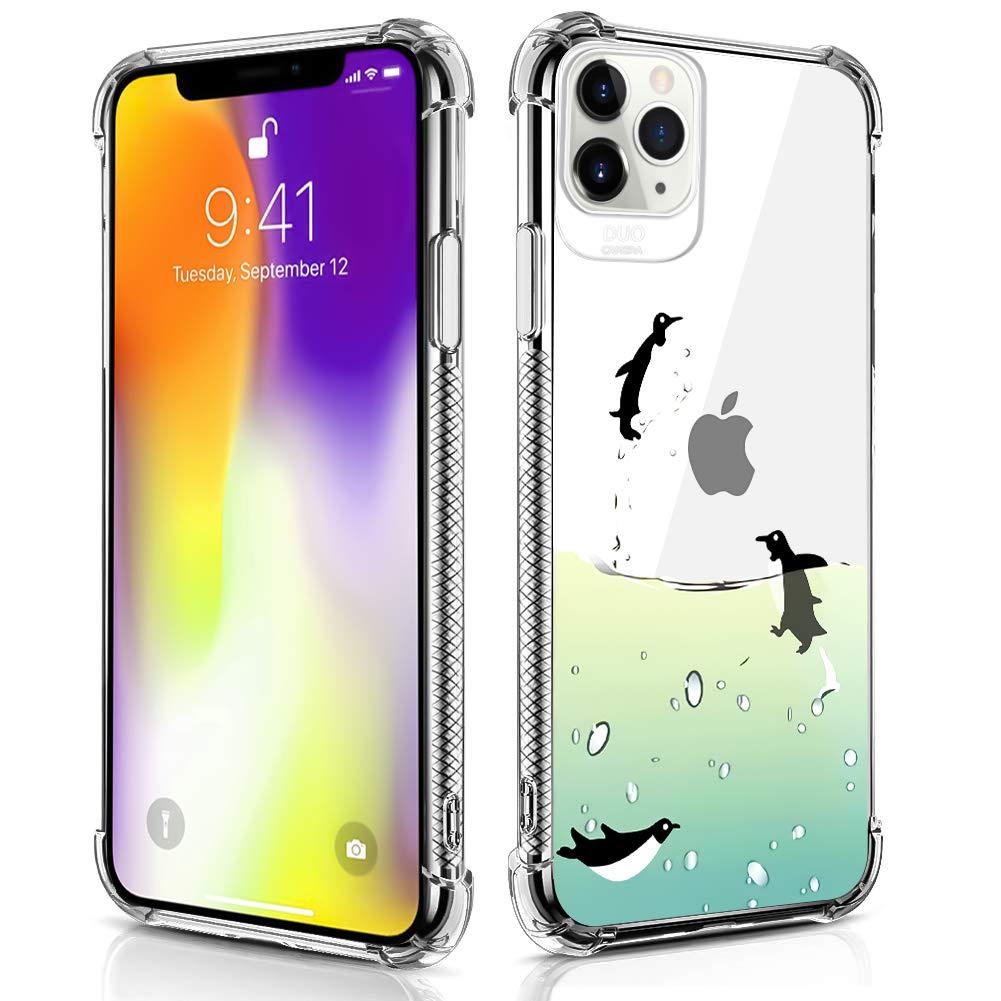 Case Compatible for iPhone 11 Pro Case Flying Penguin Pattern Design Soft TPU Bumper Shockproof Clear Cover Phone Case for iPhone 11 Pro Case 5.8 Inch (2019)