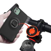 sincetop Bicycle Phone Mount with Shockproof Case for iPhone 11,Motorcycle Handlebars Cell Phone Holder Built Quick Mount 360 Rotation Adjustable Stand,Mountain Road Bike Cycling Kit iPhone 11